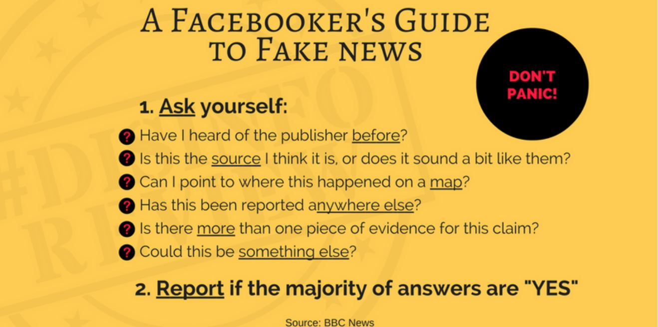 A self-help guide: What can I do to counter fake news stories?