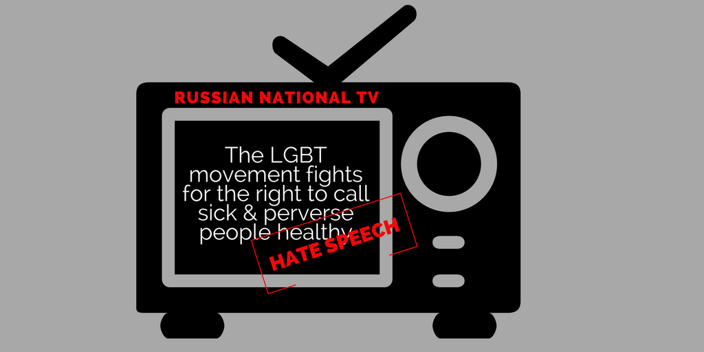 Homophobic hate speech on Russian TV