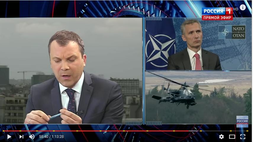 """""""Die NATO will keine Konfrontation mit Russland."""" bedeutet im russischen Staatsfernsehen: """"Die NATO bereitet einen Krieg mit Russland vor."""""""