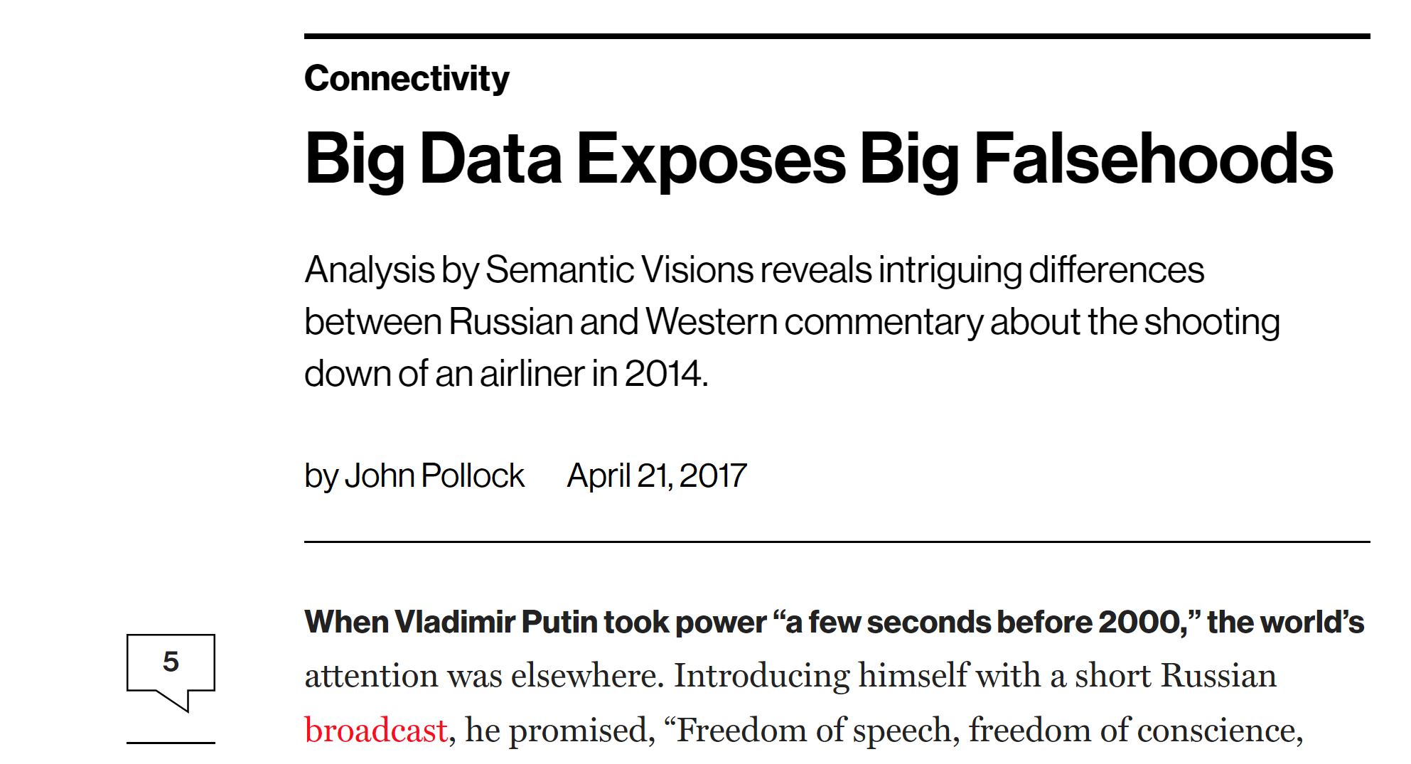 Big data analysis of the pro-Kremlin disinformation campaign