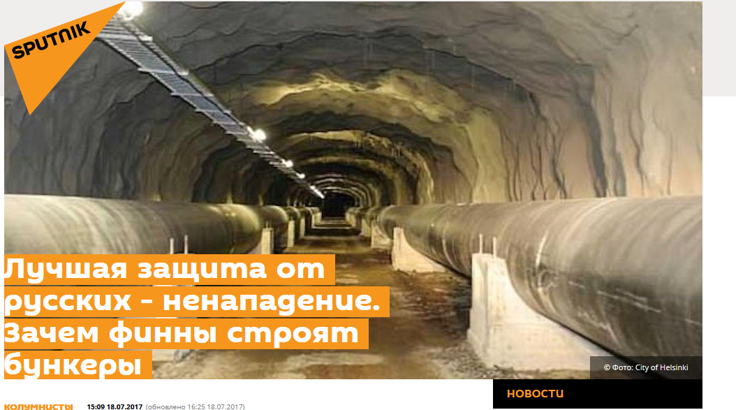 """Russia's bunker busters will reach Finns underground"" – how to ridicule and threaten at once"