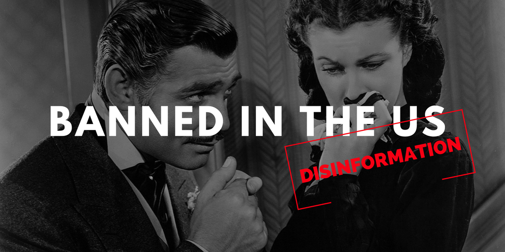 "Movie Classic ""Gone With The Wind"" Banned in the US!"