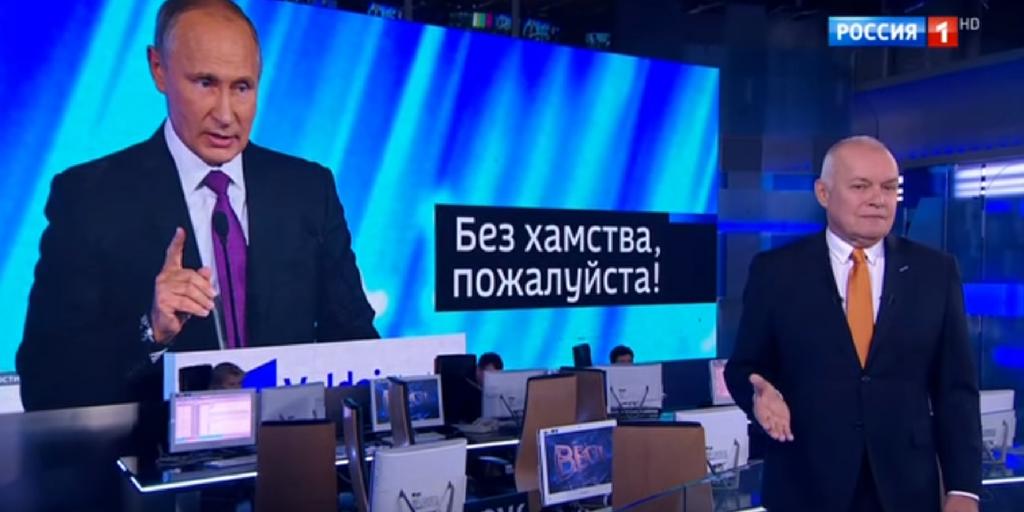 Российское ТВ: Россия как глобальная держава и предупреждения о революции