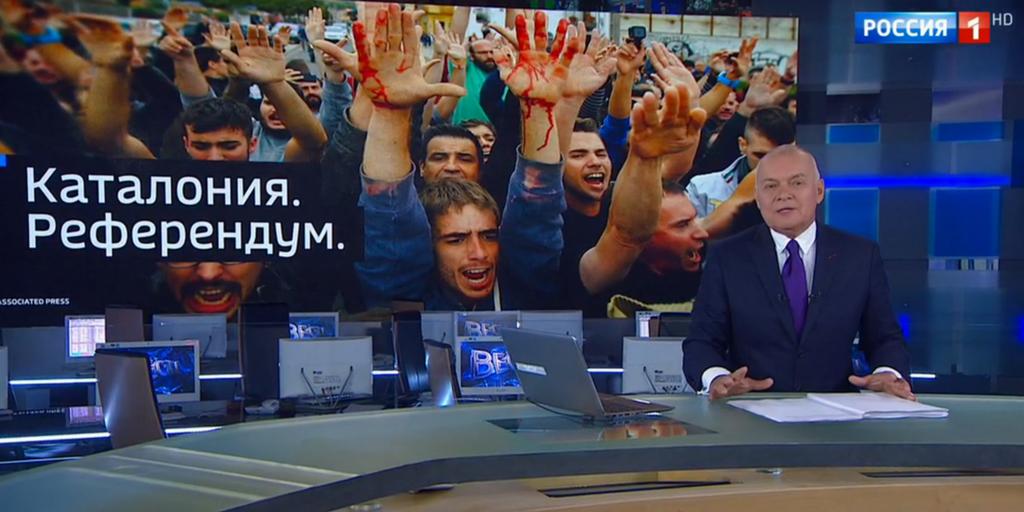 Референдум в Каталонии глазами российского ТВ: Европа разваливается на части, Испанию сравнивают с Украиной