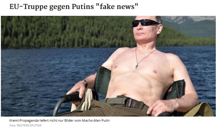 """Kurier: EU-Truppe gegen Putins """"fake news"""""""