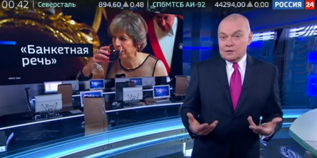 This week on Russian TV: Theresa May targeted after stating that Russia weaponises information