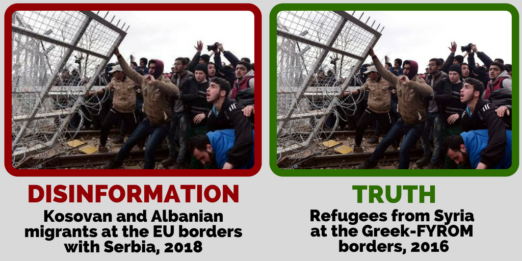 One Image, 4 x Disinformation about Migrants