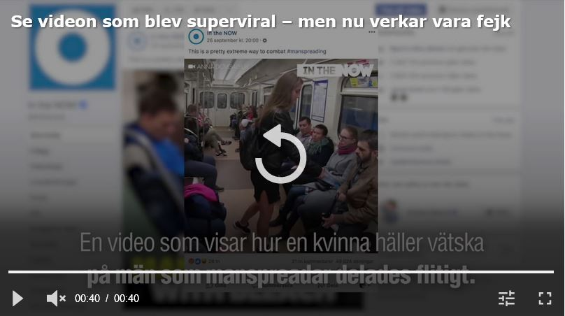 Aftonbladet: Viral manspread-video tros vara propaganda