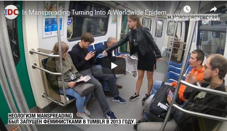 """Adevărul: Clipul viral cu """"feminista rusă"""" care dă o lecţie bărbaţilor din metrou este de fapt o propagandă a Kremlinului"""
