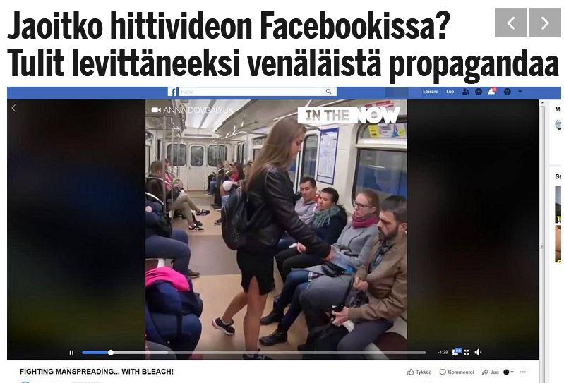 Ilta Sanomat: Jaoitko hittivideon Facebookissa? Tulit levittäneeksi venäläistä propagandaa