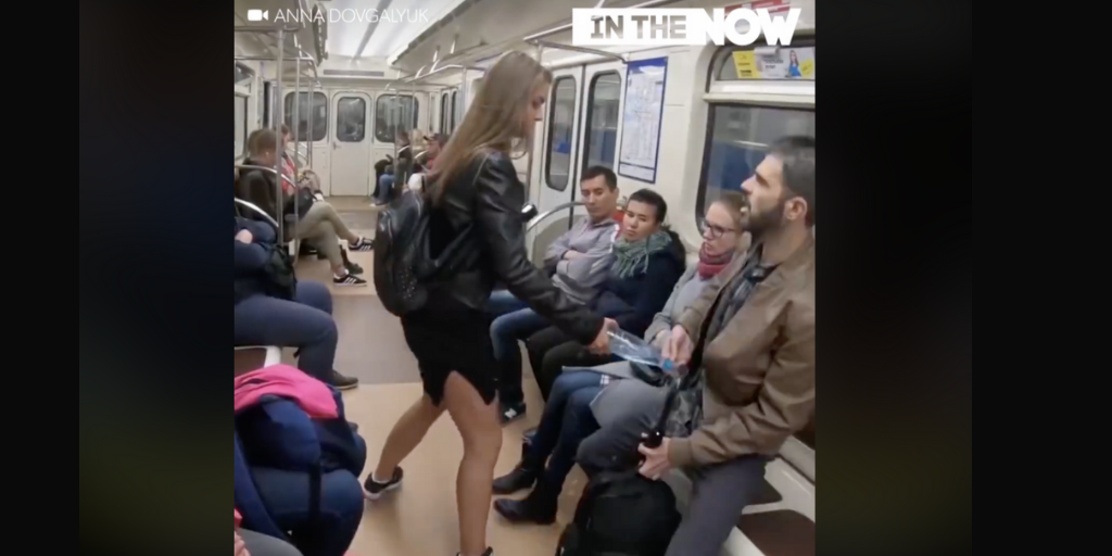"Viral ""Manspreading"" Video is Staged Kremlin Propaganda"