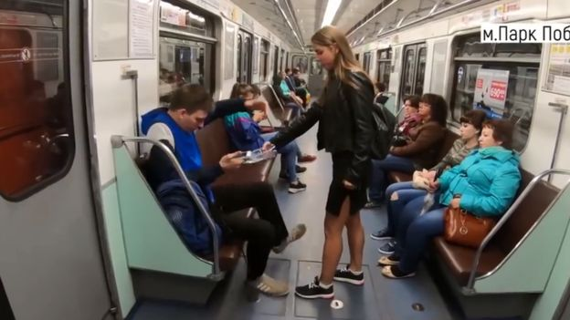 BBC: Anna Dovgalyuk: Why do people think her 'manspreading' video is a Kremlin hoax?