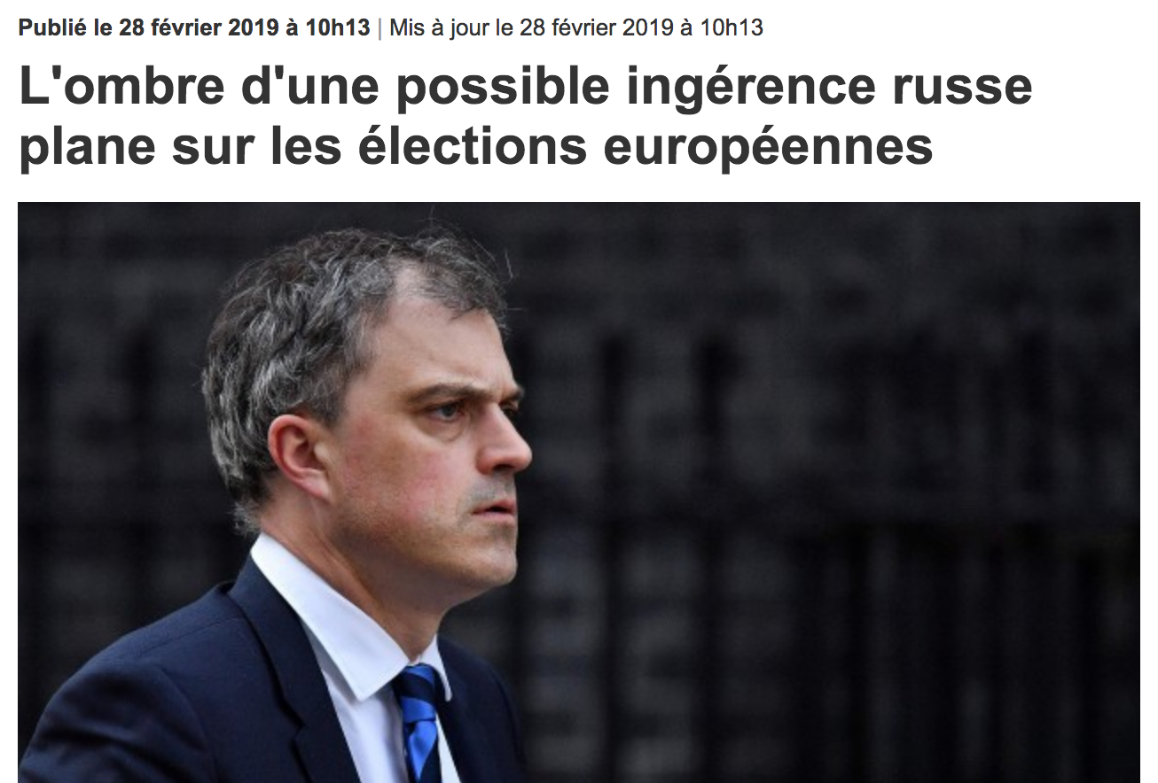 La Presse: L'ombre d'une possible ingérence russe plane sur les élections européennes