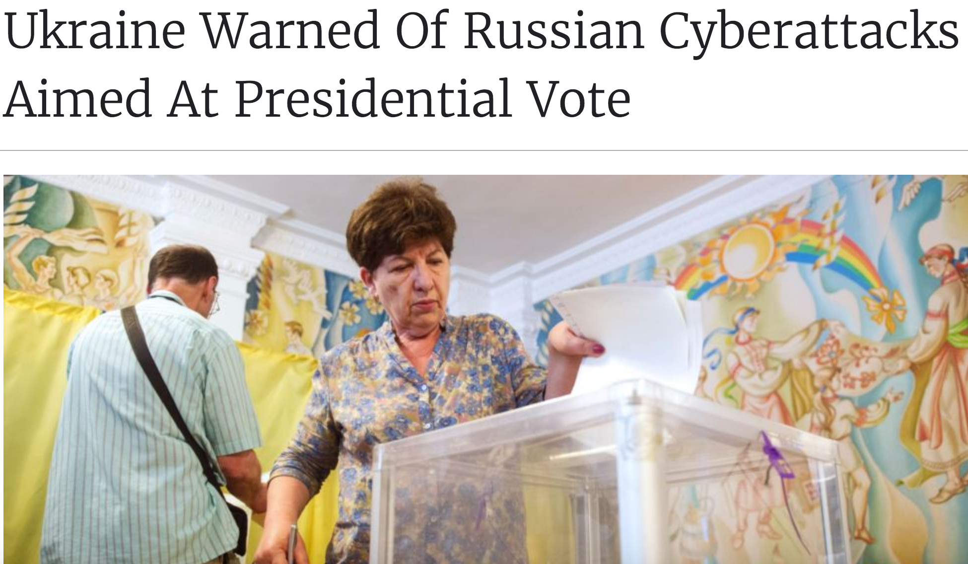 RFE/RL: Ukraine Warned Of Russian Cyberattacks Aimed At Presidential Vote