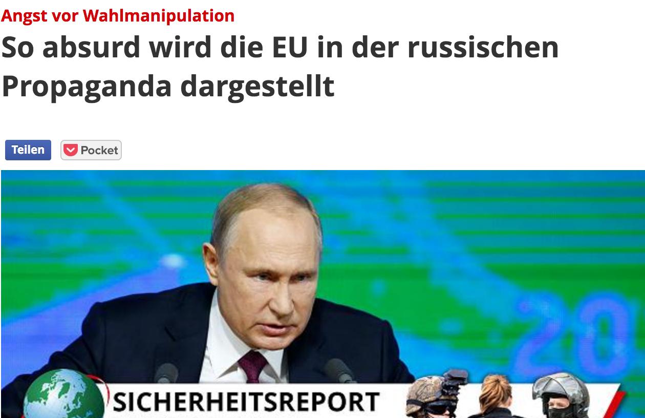 Focus: So absurd wird die EU in der russischen Propaganda dargestellt