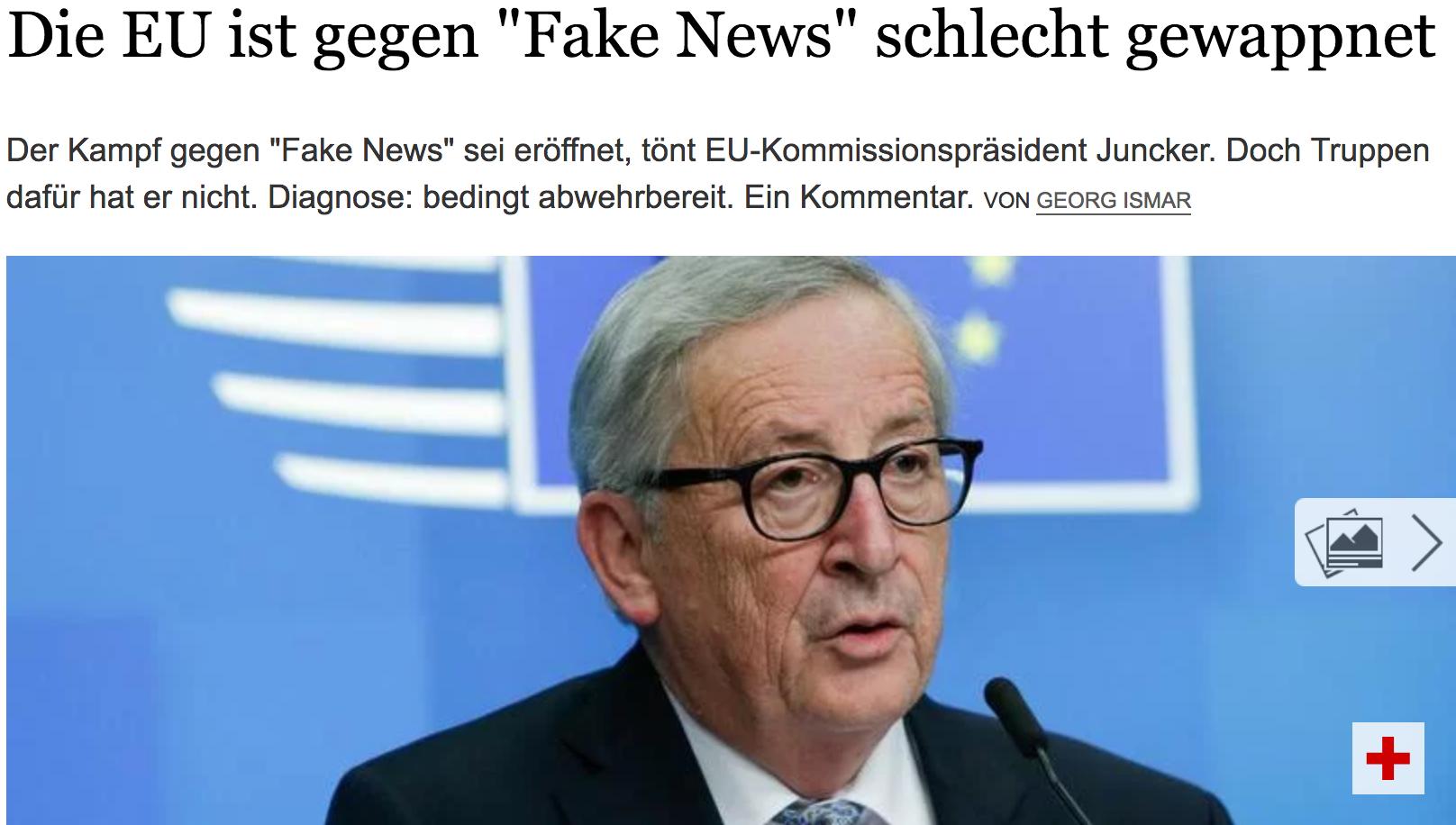 """Der Tagesspiel: Die EU ist gegen """"Fake News"""" schlecht gewappnet"""