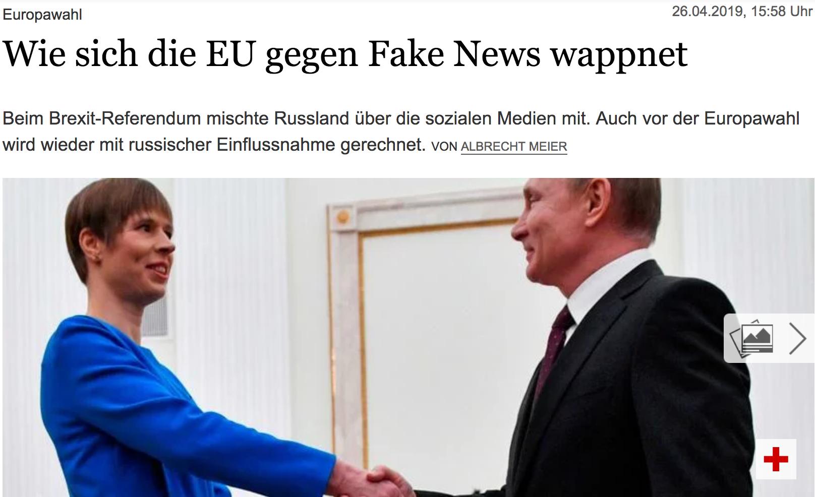 Der Tagesspiel: Wie sich die EU gegen Fake News wappnet