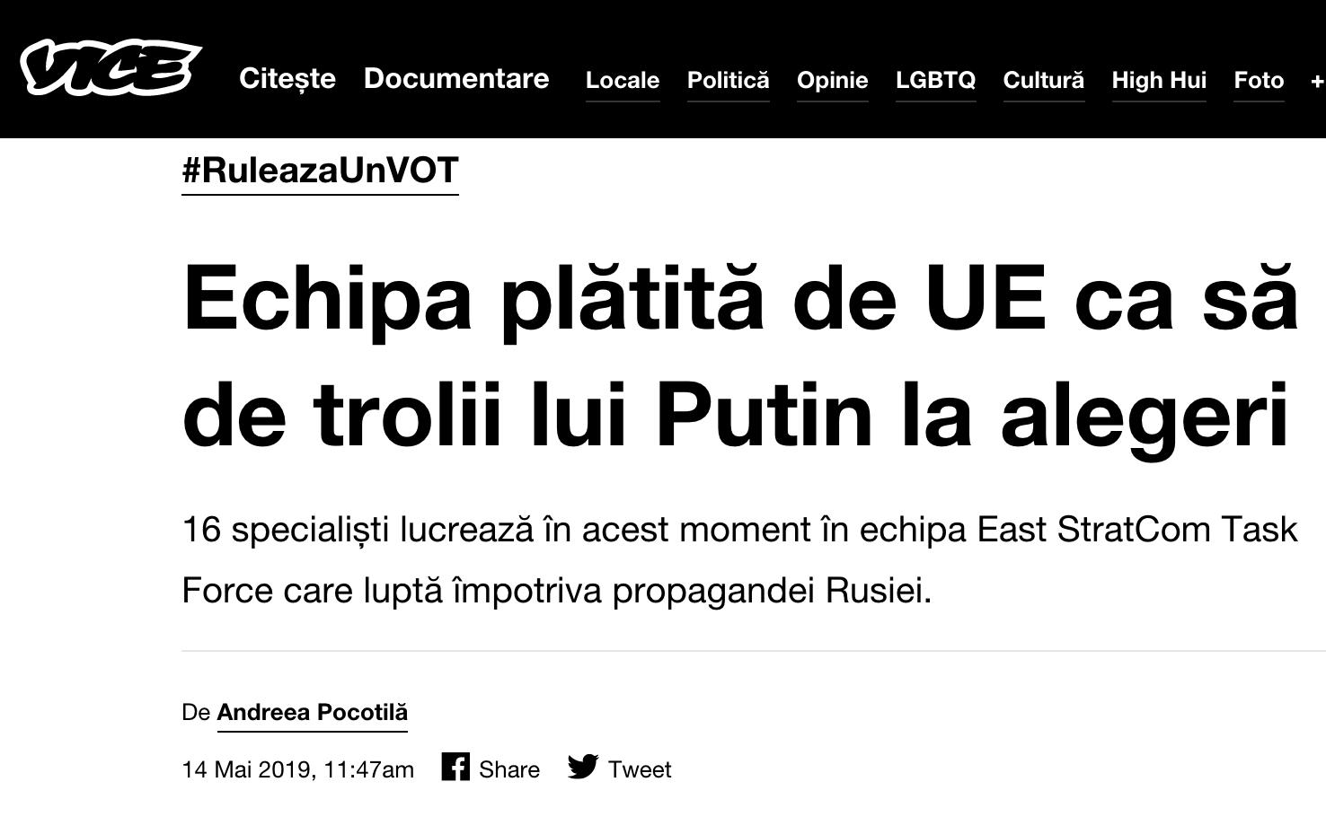VICE News: Echipa plătită de UE ca să te țină departe de trolii lui Putin la alegeri