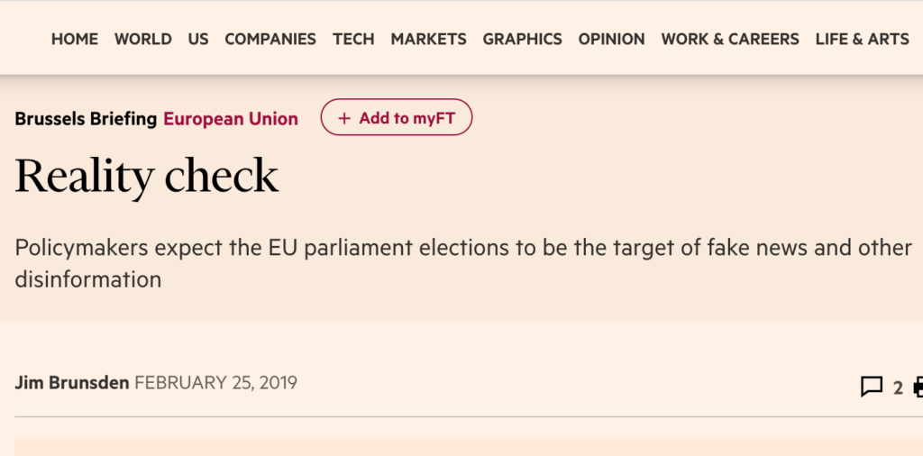 Financial Times: Reality check