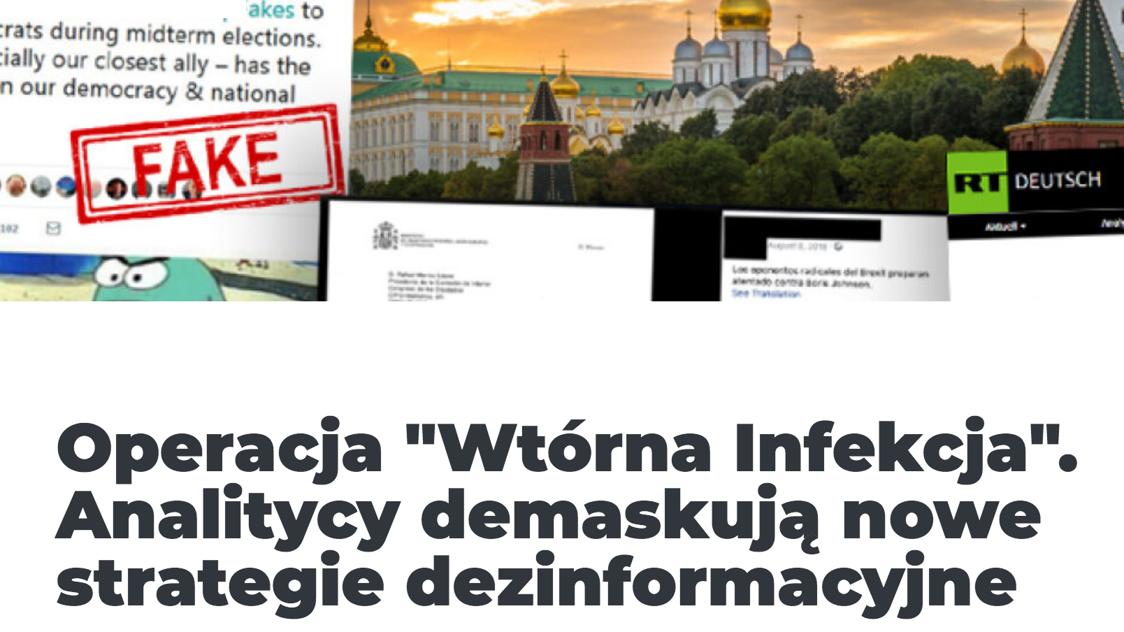 """Konkret 24: Operacja """"Wtórna Infekcja"""". Analitycy demaskują nowe strategie dezinformacyjne"""