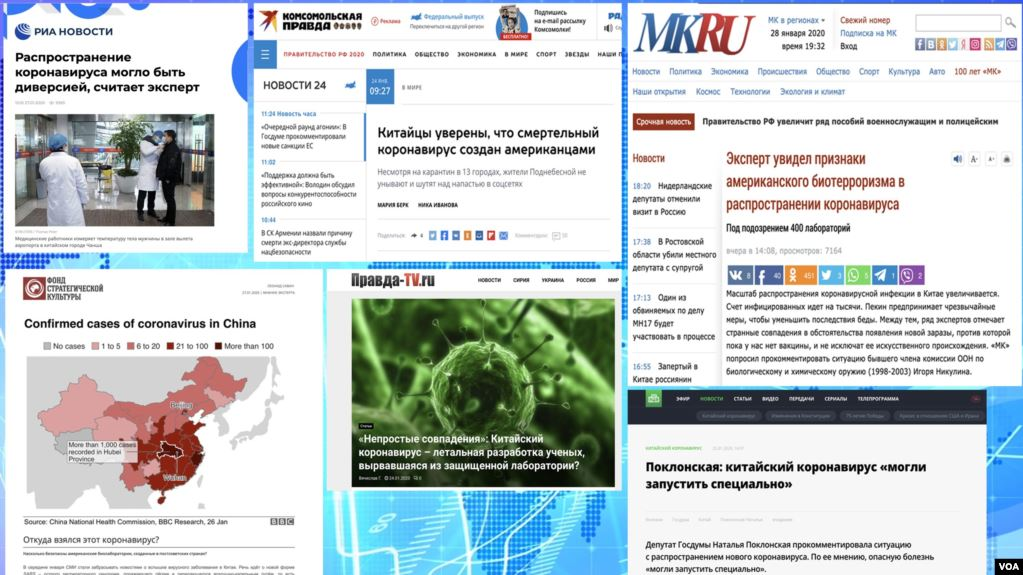 RFE/RL:  EU Monitors Say Pro-Kremlin Media Spread Coronavirus Disinformation