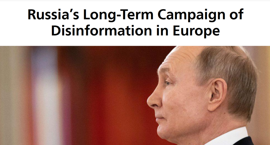 Carnegie Europe: Russia's Long-Term Campaign of Disinformation in Europe
