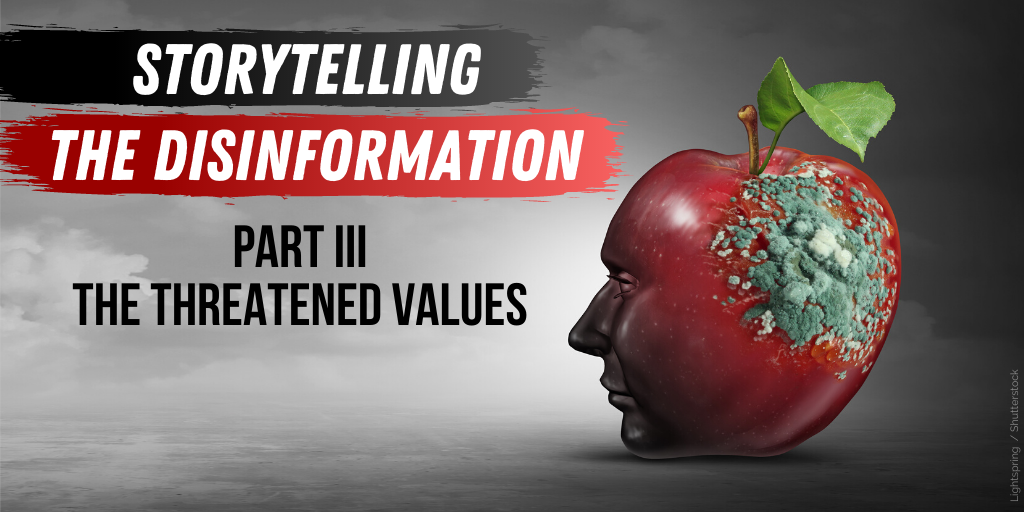 Storytelling the Disinformation. Part 3.